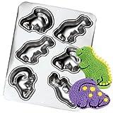 Wilton Mini Dinosaurs Muffin Treats Cupcake Pan Mold (2105-9331, 1993) ~ 6 Cavity ~ Retired Collectible