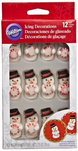 Wilton 710-0119 Snowman Stripe Mint Decoration front-316806
