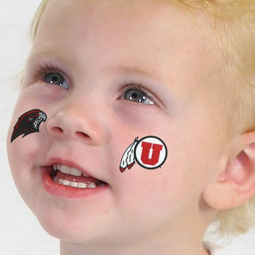 NCAA Utah Utes 4-Pack Temporary Tattoos