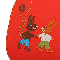 Phenovo Paire of Stylish Elbow Knee Patches Repair Sewing Applique Crafts Red Rabbit