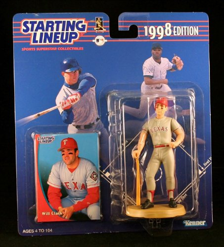 WILL CLARK / TEXAS RANGERS 1998 MLB Starting Lineup Action Figure & Exclusive Collector Trading Card