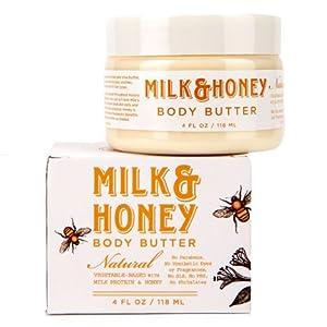 Olivina Hand & Body Butter - Milk & Honey, 4 oz. Jar (boxed) from Olivina