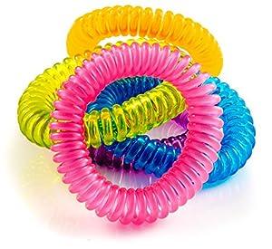 The Body Source Lot de 10 bracelets anti-moustiques pour adultes et enfants avec citronnelle et géraniol Ne contient pas de DEET. Résiste à l'eau.