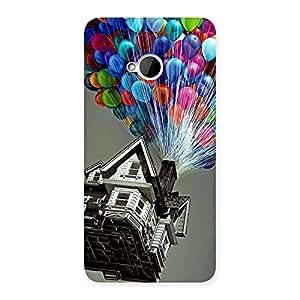 Ajay Enterprises Desinger balloon House Back Case Cover for HTC One M7