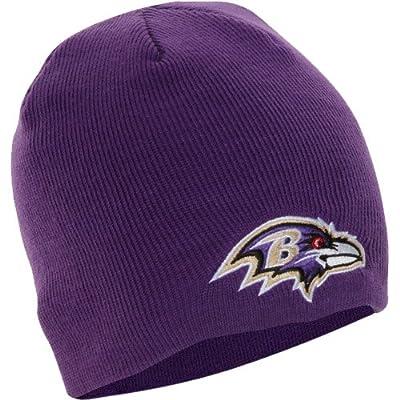 NFL Baltimore Ravens Men's Beanie Knit Cap, One Size, Purple