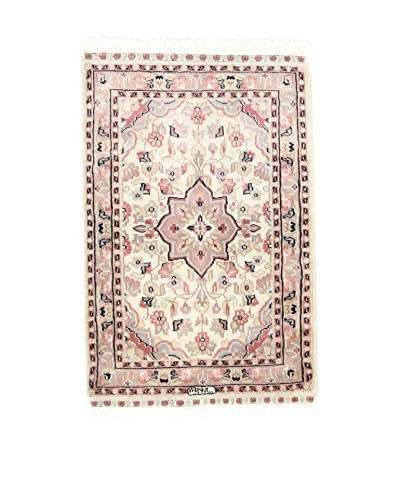 ZZ-L'Eden del Tappeto Teppich Kashmirian F/Seta rosa/ecru 58 x 92 cm