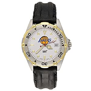 NSNSW22058P-Mens All Star Los Angeles Lakers Leather Watch by NBA Officially Licensed