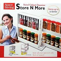 Marksman Store N More Swivel Cabinet Organizer Spice Bottles Organiser Tidy Holder Shelf