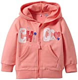 Chicco Baby - Mädchen Sweatjacke Jogging A Capuche, Einfarbig, Uni Gr. 80, Pink - Rose (Rose Moyen)
