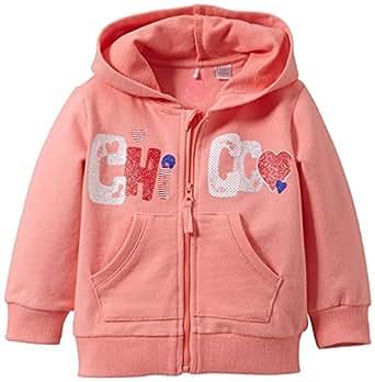 Chicco 9036698000000 - Sweat-Shirt - Uni - À capuche - Manches longues - Bébé fille - Rose (Rose Moyen) - FR: 12 mois (Taille fabricant: 12 mois)