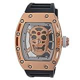 Merchant eShop Merchant eShop Skeleton Design Transparent Watch Analog Men's Watch.