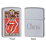 Personalized Rolling Stones Made in England Zippo Lighter with Free Engraving