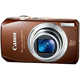 Canon PowerShot SD4500IS 10 MP Digital Camera with 10x Optical Image Stabilized Zoom and 3.0-Inch LCD, Brown