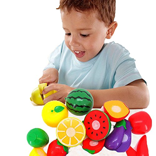 Usstore 1Set Cutting Fruit Vegetable Pretend Play Children Kid Educational Toy Gift