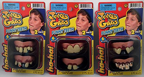 Ja Ru Jokes And Gags Funny Teeth 2 Pack - Pack of 3 - 1
