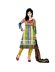 Siddhi Unstitched Cotton Printed Salwar Suit Dupatta Material ( AYSLW-102620141029AA )