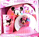 Planet Zak! Minnie Mouse 3-Piece Plate, Bowl and Tumbler Set