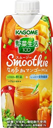 カゴメ 野菜生活100 Smoothie なめらかマンゴーMix 330ml×12本