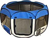 Best Pet Folding Play Pen - Blue - Medium