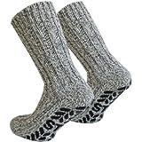 """2 Paar Antirutsch Norweger Socken mit ABS Sohlevon """"Normani"""""""