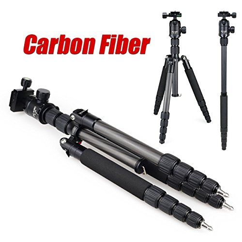 dicmic-e302c-black-carbon-fiber-professional-tripod-monopod-for-dslr-camera-portable-camera-stand
