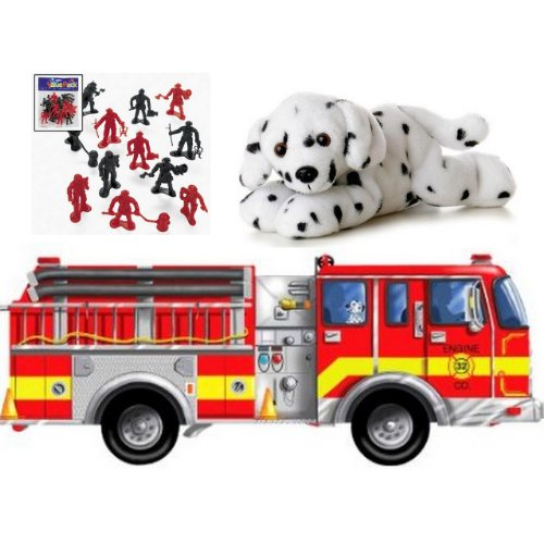 Cheap Bundles of Fun Melissa & Doug Giant Fire Truck Floor Puzzle with Dalmatian Bundle of 3 Items with **BONUS** by Bundles of Fun (B0051W1JC0)