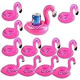 Inflatable Drink Holder Float Coaster , Floating Flamingo Inflates Coasters 12 Pack (Color: Flamingo)