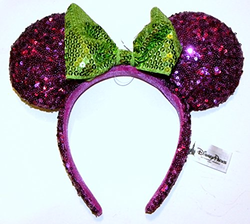 disney park halloween purple minnie mouse headband ears