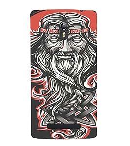 PrintVisa Modern Baba Design 3D Hard Polycarbonate Designer Back Case Cover for Oppo Find 7