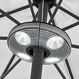 Sonnenschirmlampe mit 4 Strahlern und 16 LEDs