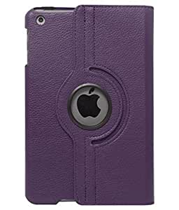 ECellStret Limited Edition 360 Rotating PU Leather Smart Flip Carry Case Cover For Apple iPad Mini / Mini 2 / Mini 3 - Purple