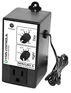 Titan Controls 702755 Mercury 3 Day and Night Fan Speed Controller, 120-volt