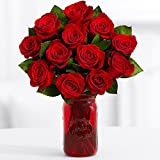 12 Red Roses Bouquet - Flowers