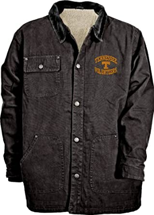 NCAA Mens Tennessee Volunteers Durango Brushed Canvas Sherpa Lined Workwear Jacket by Old Varsity