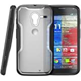 Moto X Phone Case, SUPCASE Unicorn Beetle Series Premium Hybrid Protective Bumper Case for Motorola Moto X Phone, Frost Clear/Black [Free HD Clear Screen Protector, Bubble Free Installation Instruction Included]