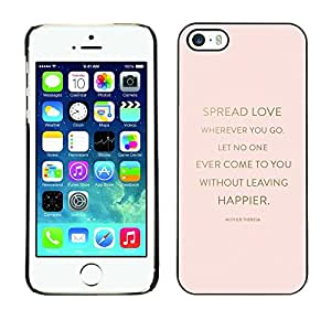 Omega Covers - Snap on Hard Back Case Cover Shell FOR Apple iPhone 5 / 5S - Love Quote God Religion Christian Peach Gold