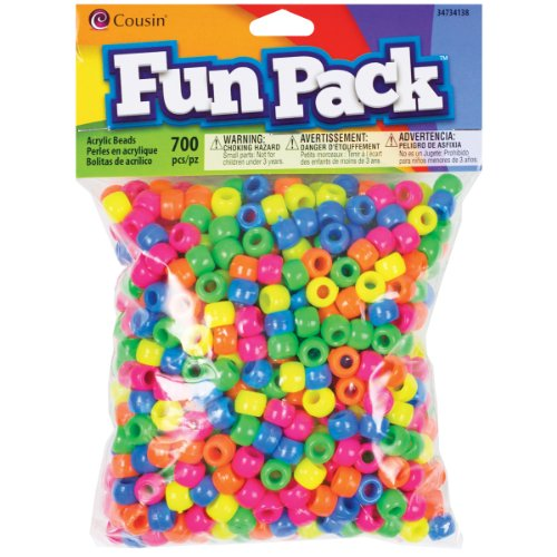 Cousin Fun Packs 700-Piece Neon Pony Beads