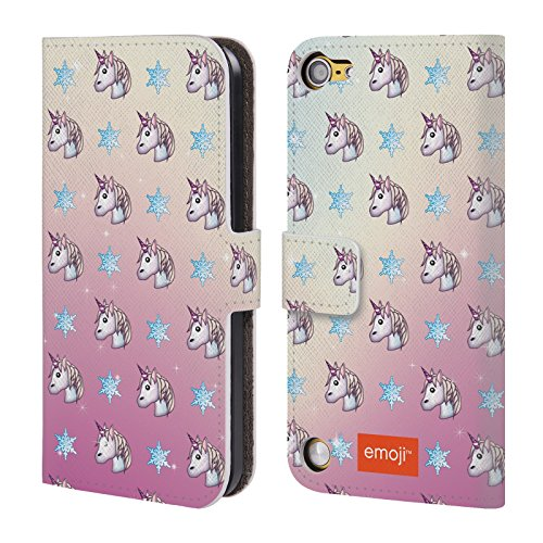 official-emoji-unicorn-patterns-leather-book-wallet-case-cover-for-ipod-touch-5th-gen-6th-gen