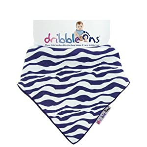 DRIBBLE ONS Designer Dribble on (Zebra Stripe) marca Sock Ons