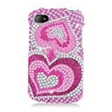 HHI Full Diamond Graphic Case For BlackBerry Q10 - Pink Heart (Package Include A HandHelditems Sketch Stylus Pen...