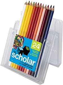 Prismacolor Scholar Colored Pencils, 24 Pre-Sharpened Colored Pencils