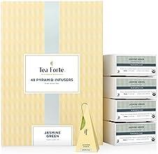 Tea Forte BULK PACK Jasmine Green Tea 48 Handcrafted Pyramid Tea Infusers