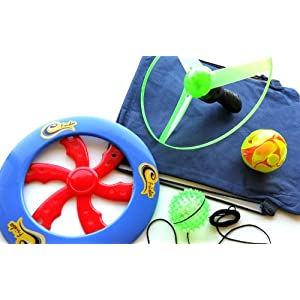4 in 1 Beach Games Gift Set with Blinking Magic Expanding Ball
