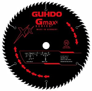 Guhdo Gmaxx Series 2400.120T72 12 -Inch 72 Teeth Carbide Tipped Particle Board Circular Saw Blade