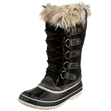 DECENT FEATURES of the Sorel Women's Joan of Arctic Boot Upper: Waterproof suede leather upper. Faux fur snow cuff. Seam sealed waterproof construction Insulation: Removable 6 mm washable recycled felt inner boot Midsole: 2.5 mm bonded felt frost plu...
