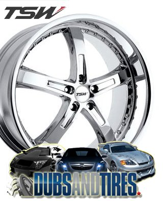 22″ x 10.5″ TSW Wheels Jarama (Chrome/Chrome)