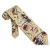 Well Read Tie Tan Brown Silk Necktie - Mens Occupational Neck Tie