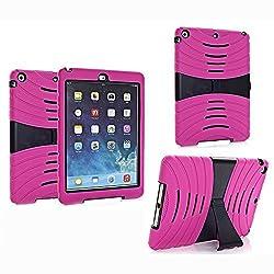 Bolkin Apple Ipad Air Shockproof Case Cover (Pink+black)