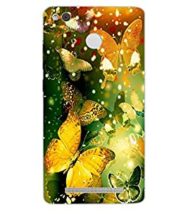 ColourCraft Beautiful Butterflies Design Back Case Cover for XIAOMI REDMI 3X