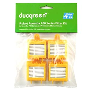 Duogreen Robotic Vacuum Replcement Filter for iRobot Roomba 700 Series 780, 770, 760, Set of 4
